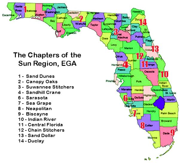 Sun Region Chapters Map